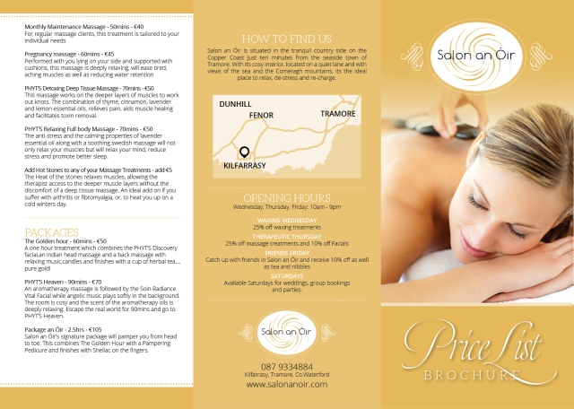 Salon an Oir Brochure